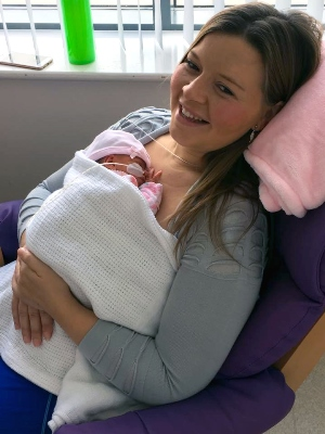 Georgia Russell with baby Charley