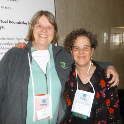 Terri Tibbot and Frances Verter at the perinatal Stem Cell Society 2018 meeting