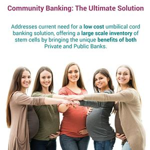 Community banking is an alternative to public or private cord blood banking that supports public health needs