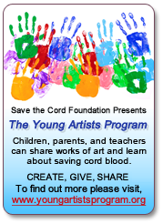 flyer for Save The Cord Foundation's Young Artists Program