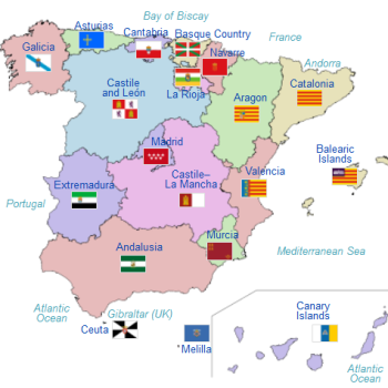 image courtesy of Wikipedia: Autonomous Communities in Spain