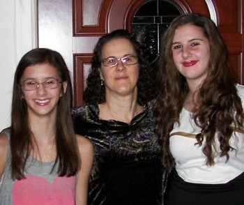 Frances Verter and her daughters, Nov. 2012