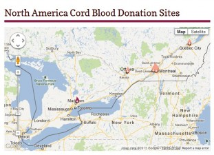 Canada donation sites close up Ontario & Quebec