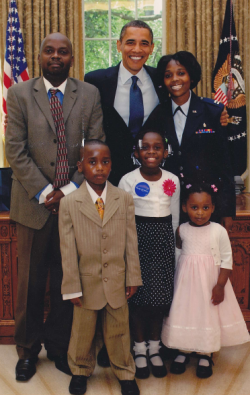 Mulumba family meets President Obama in the oval office thanks to Make A Wish Foundation