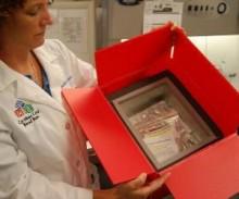 collection kit for Carolinas Cord Blood Bank